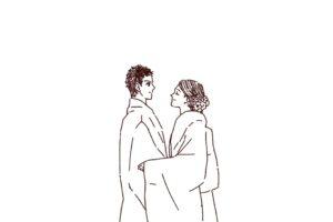 結婚式 和装カップル,フリーイラスト,線画イラスト,フリー素材