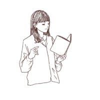 読書をしている女性