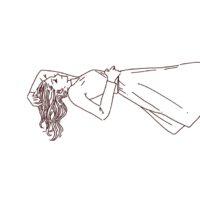 寝そべっている女性のイラスト,フリーイラスト,線画イラスト,フリー素材