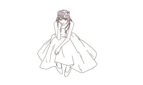 花嫁/ドレス姿の女性 イラスト