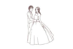 結婚式 洋装カップル