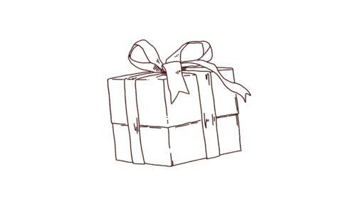 プレゼントボックスのイラスト,フリーイラスト,フリー素材,線画イラスト