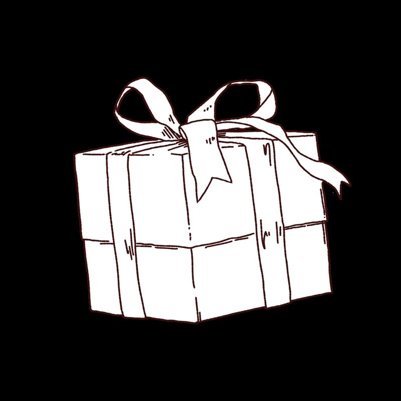 プレゼントのイラスト,フリーイラスト,フリー素材,線画イラスト